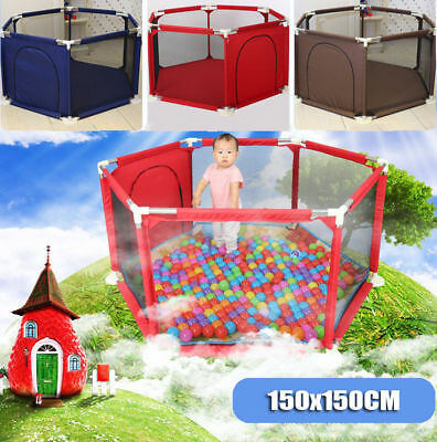 2018 New Baby Kids Toddler Deluxe Natural Fabric Playpen Divider Hexagonal Color
