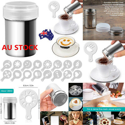 AU Stainless Steel Chocolate Shaker Powder Sprinkler Flour Coffee Cocoa Sifter
