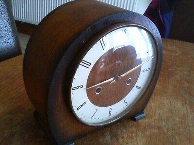 Vintage Smiths Antique Mantle Clock Fully Working Hour Chiming Clock