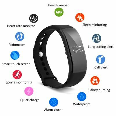 V66 Waterproof Heart Rate Smart Wristband Watch Bracelet Sport Fitness Tracker