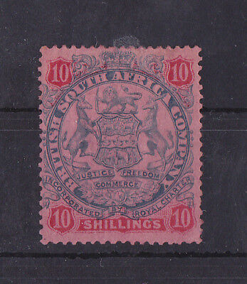 BRITISH SOUTH AFRICA COMPANY 1896-1897 Mint Hinged 10/- SG #50 CV £130
