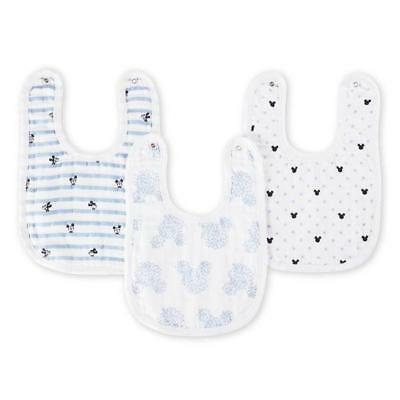 MICKEY Bavoirs a Boutons-Pression - Pack de 3 - Disney Baby