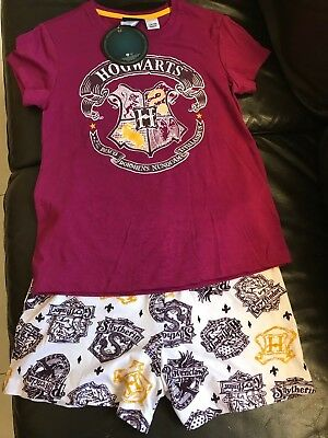 Hogwarts Harry Potter Pyjama Warner Bros T-shirt shorts kids Official Licensed
