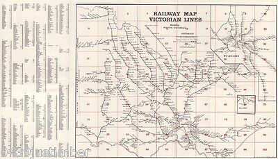 Victorian Railways Map Showing the Lines in Use in the1970's a new A3 size copy