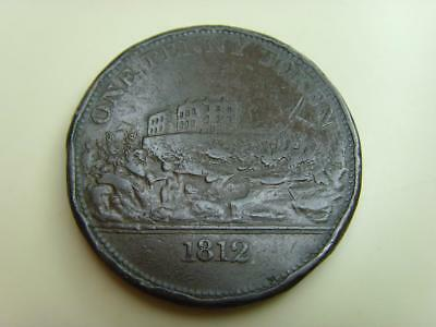1812 J.m. Fellows One Penny Token (Dented Edge) British Coin Great Britain