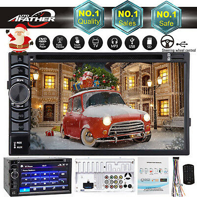 Digital Double 2DIN In dash Car Stereo Radio DVD Player Bluetooth FM/SD For Ford