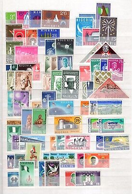 A51113/ Nigeria / Lot 1962 – 1974 Full Sets Neufs ** / Mnh 116 €