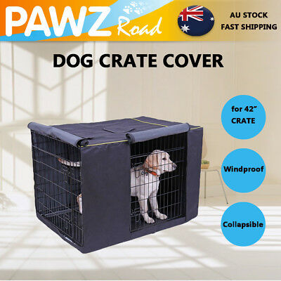 "42""Pet Dog Crate Cage COVER Bed Windproof Dustproof Kennel House Tent COVER ONLY"