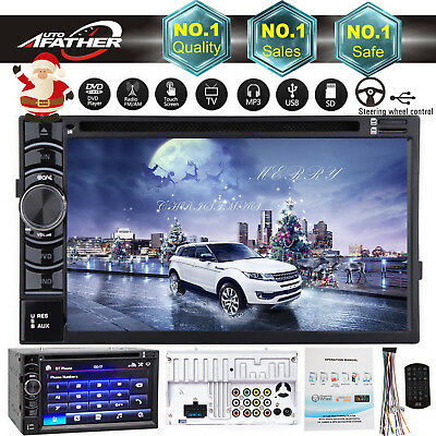 Double 2Din Head Unit Car Stereo DVD CD MP3 Player Bluetooth Radio USB/SD/AUX/FM