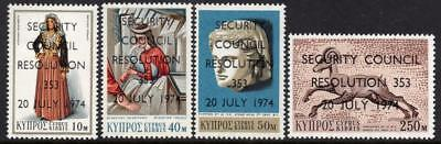 Cyprus MNH 1974 SG431-34 U.N. Security Council Resolution