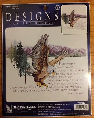 Leisure Arts Vintage New Old Stitch Craft Eagle Bible Verse Isaiah 40:31