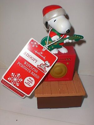 """guitar Snoopy"" 2011 Hallmark Wireless Peanuts Band - Music And Motion - Mint"