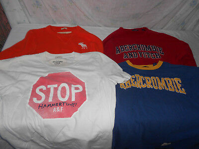 One Lot Of (4) Abercrombie & Fitch Men Shirts