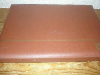 #760 Stockbook 16/32 EMPTY pre-used brown reasonable