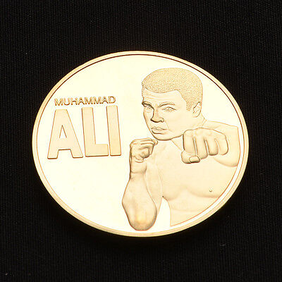 "Art Craft Gifts Boxing Champion ""MUHAMMAD ALI"" Gold Medal Commemorative Coins."