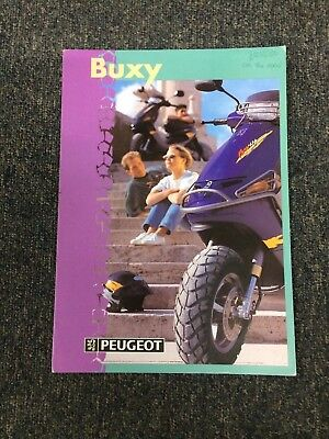 Peugeot Buxy Scooter Brochure 1996
