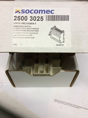 SOCOMEC 2500 3025 SIRCO VM2 3x250A Load Break Switch