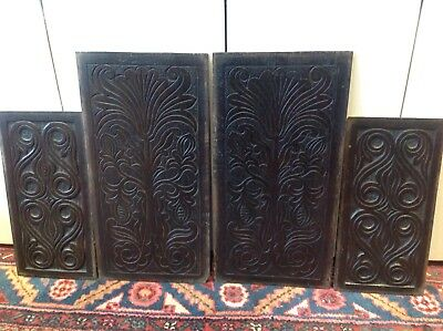 17 Th Century Carved Oak Panels