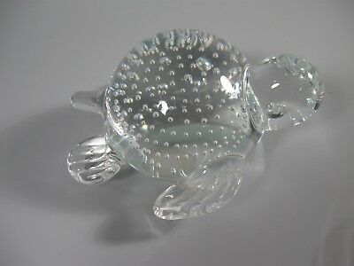 Hand Crafted Leaded Crystal Paperweight Turtle Sea Turtle
