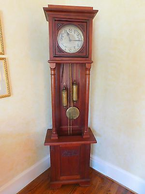 Antique German Schlender & Kienzle Open Well Grandfather Clock