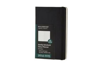 Moleskine Black Large 2014-2015, 18 Month Weekly Planner - NUOVO