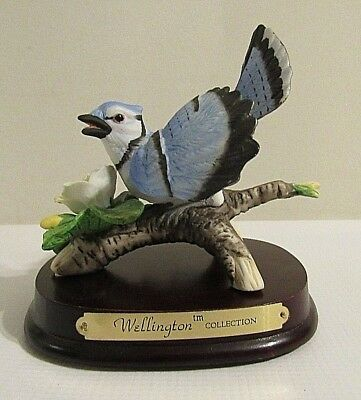 Vintage Wellington Collection Porcelain Blue Jay Figurine