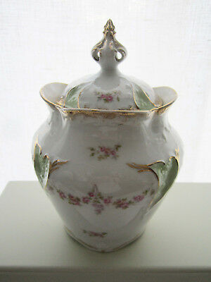 Beautiful! Signed CARL TIELSCH C.T.  Porcelain Biscuit Jar Germany