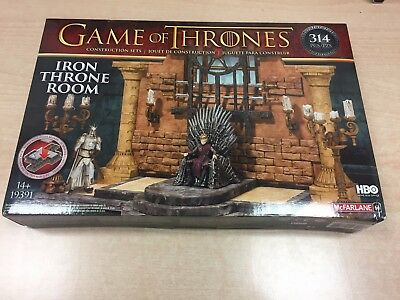 Game of Thrones Iron Throne Room McFarlane Construction Set. Brand New. Sealed.