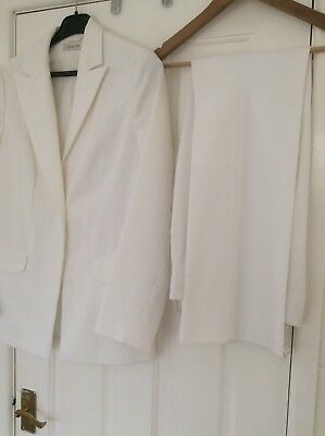 White Tailored Trouser Suit 12