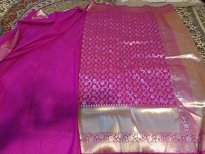 Pink Saree Brand new with tag full body work