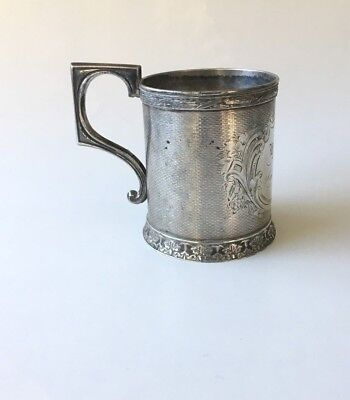 Tifft & Whiting Antique Pure Silver Cup Mid 1800's