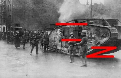 Berlin 1919. Captured British MkIV tank (Hanni) & Freikorps soliders (2)