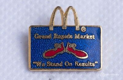 "Grand Rapids Market ""We stand on results"" McDonald's Cloisonné Enamel Pin"