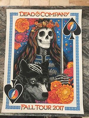 Dead and Company VIP Poster Fall Tour 2017 Signed & Numbered