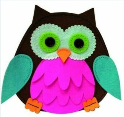 Kleiber Craft kit Children Felt bag Owl pink 931-85 frisk sew