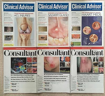 Lot 6 medical magazines Clinical Advisor For Physician Assistants & Consultant
