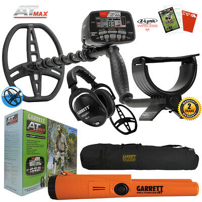 Garrett AT MAX Metal Detector with MS-3, Pro Pointer AT, Carry Bag & More