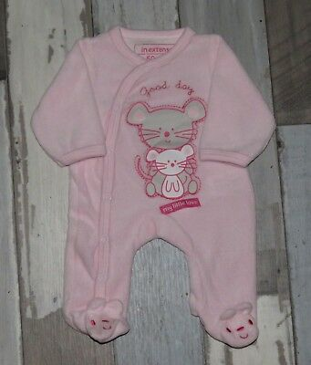 ~ Superbe Pyjama velours rose IN EXTENSO Taille 0 / Naissance  ~