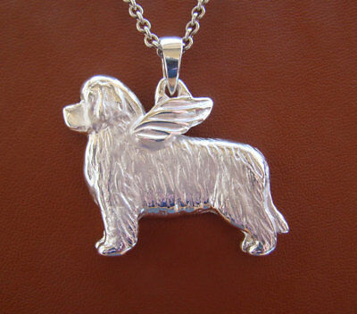Very Large Sterling Silver Newfoundland Angel Pendant
