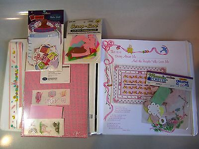 Creative Memories 12 x 12 Baby Girl Booties Scrapbook Album w Pages and Extras