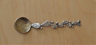 Geo. Shreve & Co. Sterling Silver Cactus Handle Spoon 1888 25 Centavos Coin Bowl