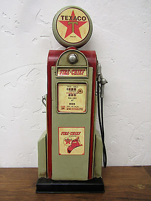 "Vintage-Inspired Metal 14"" Texaco Fire Chief Gas Station Pump Oil Fuel Man Cave"