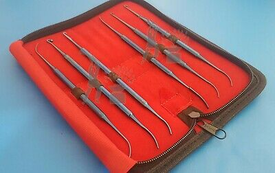 Micro Dissectors Expanded Kit Rhoton Neuro Surgical Instruments 6 Pieces
