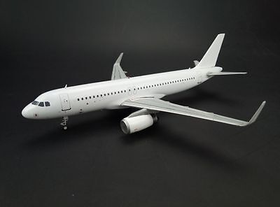 """Airbus A320 with sharklets """"Blank"""" series  JC Wings 1:200 Diecast Models XX2124"""