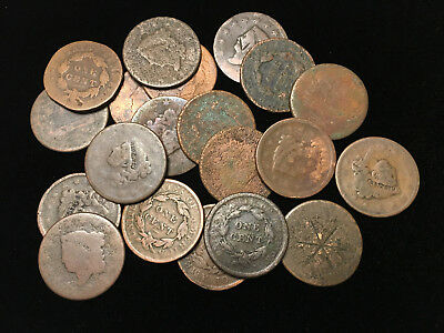 Lot of 20 US large cents, *CULLS*, pennies