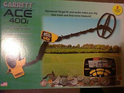 Garrett Ace 400i Metal Detector - Boxed with Extras, fantastic condition