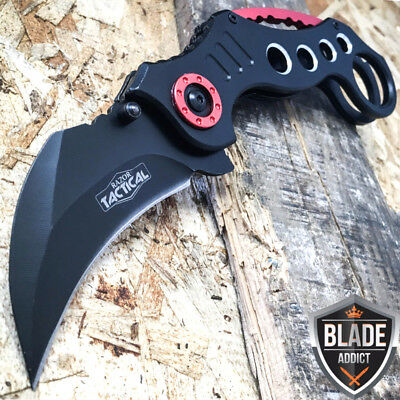 """8"""" Tactical Spring Assisted Open Karambit Pocket Knife Folding Claw Combat EDC-M"""