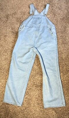 Baby and Me Size Small Light Blue Denim Maternity Overalls Dungarees