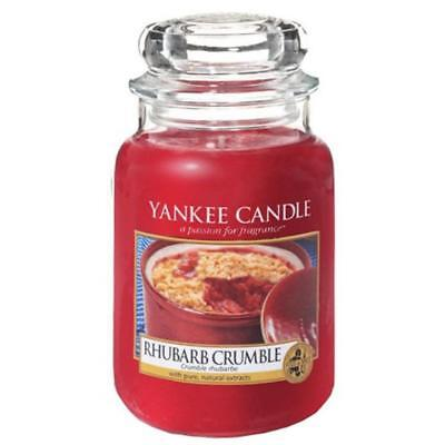 (TG. Large) Yankee Candle Rhubarb Crumble - wax candles - NUOVO