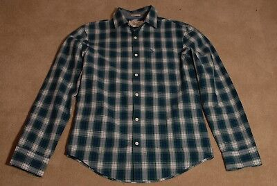 penguin Check shirt Blue White and Green M Medium Great Condition